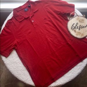 IZOD Polo Silk Wash 100% Cotton Red Size XL